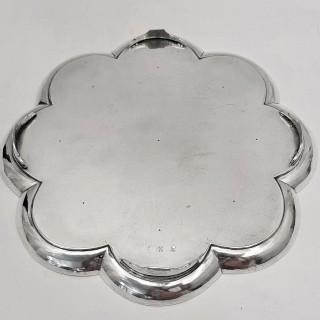 George Ii Silver Octafoil Salver