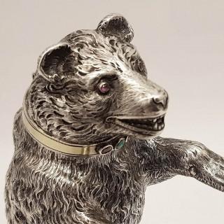 Antique Silver Bear