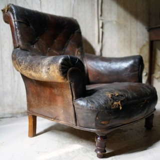 An Early 19thC French Crocodile Leather Armchair c.1830