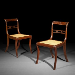 Six Regency Klismos Chairs attributed to Gillows