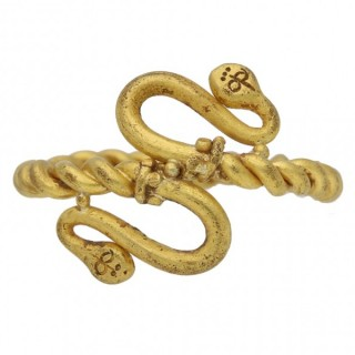 Egyptian gold double snake ring, circa 5th-4th century BC.