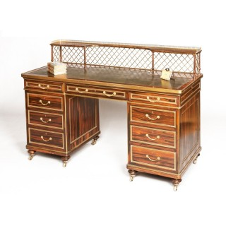 A Very Fine Writing Desk Firmly Attributed to Wright & Mansfield
