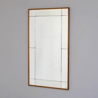 Rectangular Mid Century Swedish Mirror