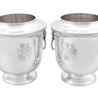 Sterling Silver Wine Coolers - Antique George III