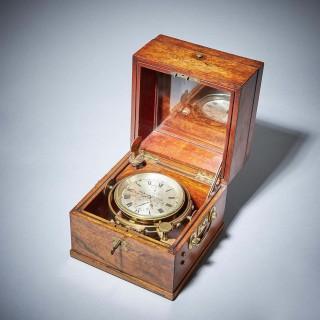 Fine american two day marine chronometer, signed t. S & j. D negus new york