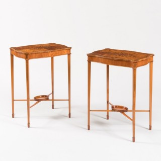 An Elegant Pair of Side Tables