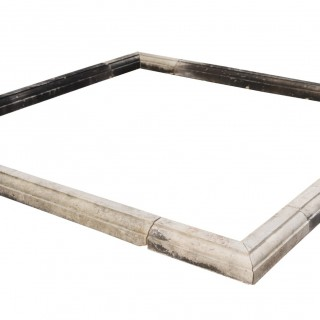 A Reclaimed Square Portland Stone Pool Surround