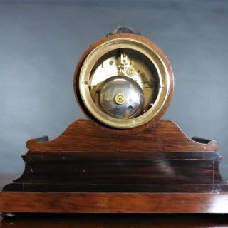 Victorian French Walnut Mantel Clock