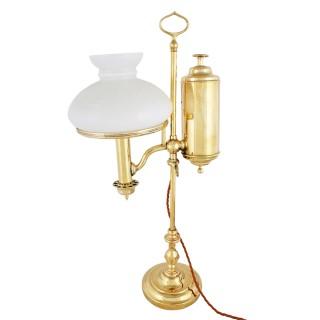 Victorian Brass Student Lamp