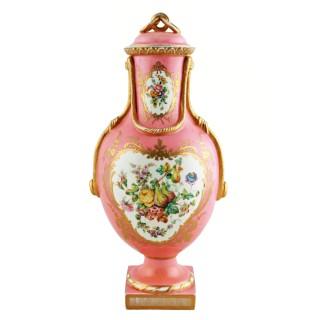 Victorian Coalport Porcelain Vase & Cover
