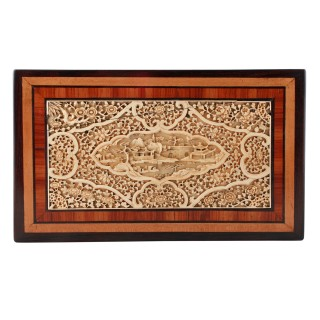 19th Century Chinese Ivory Panel Box