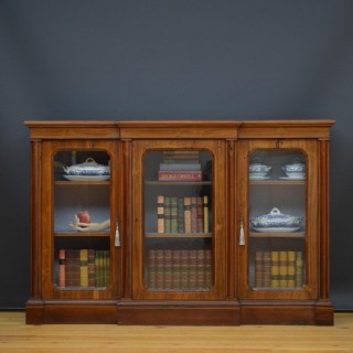 Victorian Rosewood Breakfronted Bookcase
