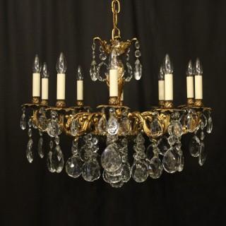 French 10 Light Gilded Bronze Antique Chandelier