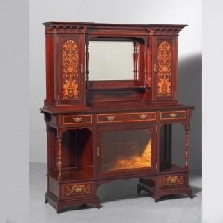 LAPADA FIRSTS AUGUST Victorian Inlaid Mahogany Side Cabinet by Gillows