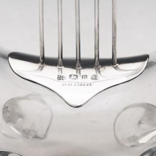Antique Silver Lyre Decanter