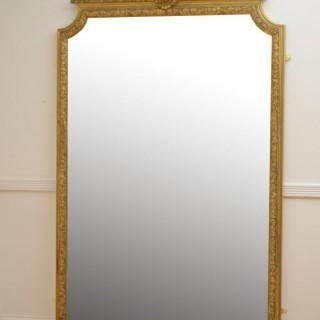 Large 19th Century Giltwood Mirror H202cm