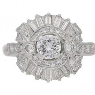 Diamond cluster by Alabaster & Wilson, English, circa 1960.