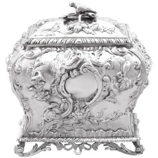 Sterling Silver Tea Caddy - Antique George III (1762)