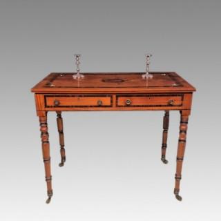 Georgian satinwood writing table.