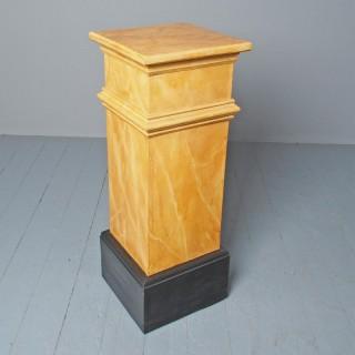 Victorian Faux Marble Pedestal