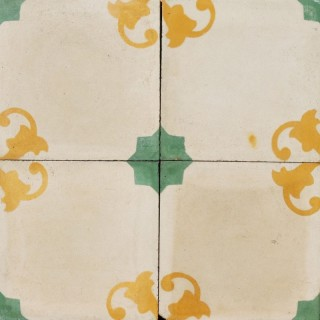 Reclaimed Patterned Encaustic Cement Floor or Wall Tiles 1.5 m2 (16 ft2)