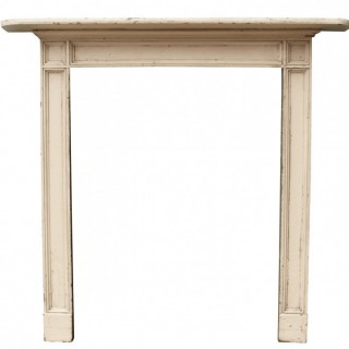 A Reclaimed Regency Painted Pine Fire Surround