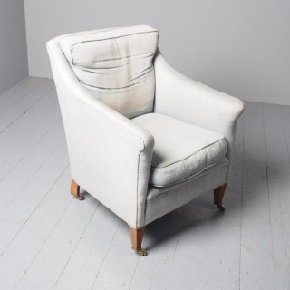 Howard Style Inlaid Mahogany Easy Chair