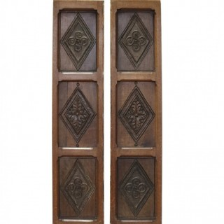 Two 17th Century English Carved Oak Panels