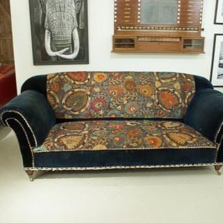 Large Three Seater Upholstered Sofa