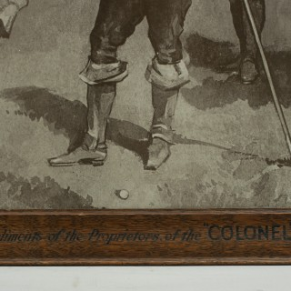 Vintage Colonel Golf Ball Promotional Advert