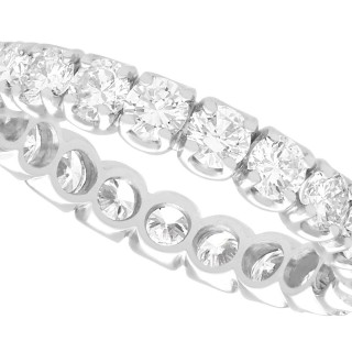 1.89ct Diamond and 18ct White Gold Full Eternity Ring - Vintage Circa 1980