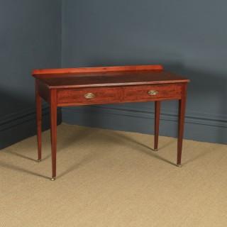 Antique English Edwardian Regency Style Figured Mahogany Side / Writing Table / Desk (Circa 1910)