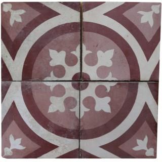 Reclaimed Patterned Encaustic Floor Tiles