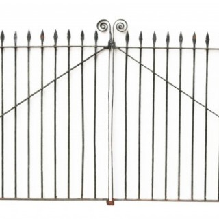 A Set of Reclaimed Wrought Iron Driveway Gates 374 cm (12ft)