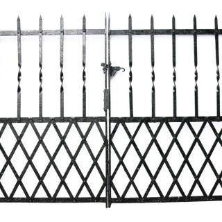 A Set of Reclaimed Wrought Iron Gates