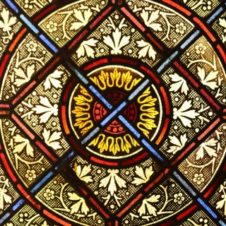 Reclaimed English Stained Glass Church Windows