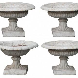 A Set of Four Antique Garden Tazza Urns