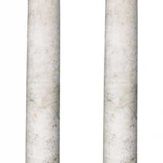 A Pair of Antique Neoclassical Style Marble Columns