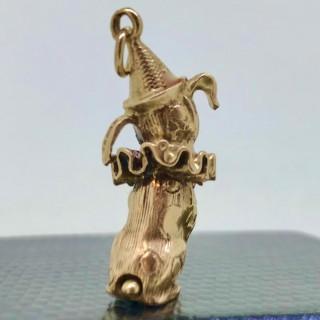 Gold Circus Dog Charm
