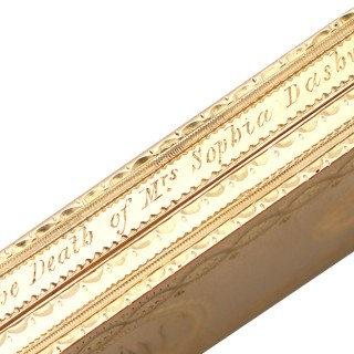 22ct Yellow Gold Toothpick Case/Holder with Mirror - Antique George III (1779)