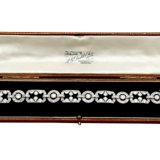 12.29ct Diamond and Platinum Bracelet - Art Deco - Antique Circa 1930