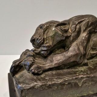 Elsie Henderson (1880-1967) Young tiger bronze 1923