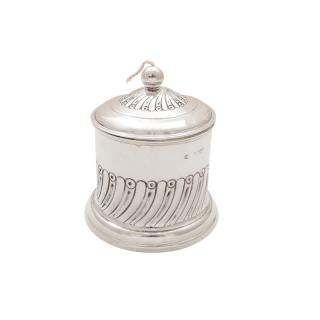 Antique Edwardian Sterling Silver String Box / Holder 1903