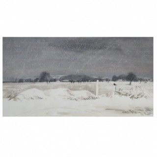 Leslie Worth (1923-2009) riders in the snow 1960 watercolour