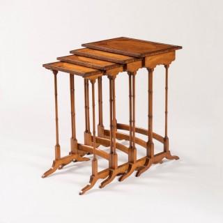 An Elegant Quartetto Nest of Tables