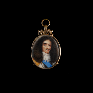 David des Granges 'Charles II (1630-1685), as Prince of Wales, wearing the blue sash of the Order of the Garter, natural curling brown hair' . 17th Century
