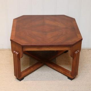 Low Walnut Art Deco Table
