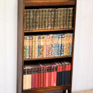 Small Proportioned Oak Open Bookcase