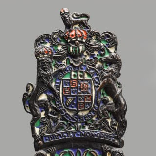 A Pair of Charles II Style  Armorial Firedogs