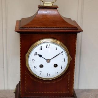 Mahogany Pagoda Style Mantel Clock